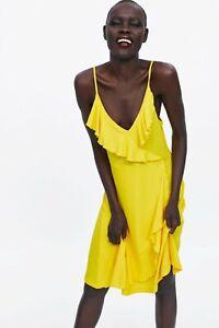cherrie424: NWT Zara Yellow Ruffled Dress