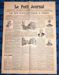 La-Une-Du-Journal-Le-Petit-Journal-2-Mai-1903-Le-Roi-D-Angleterre-A-Paris