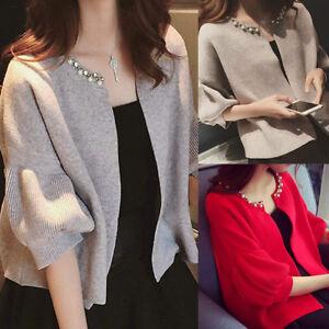 Women-039-s-Casual-Knitted-Cardigan-Sweater-Coat-Lady-Jacket-Outwear-Knitwear-M-XL