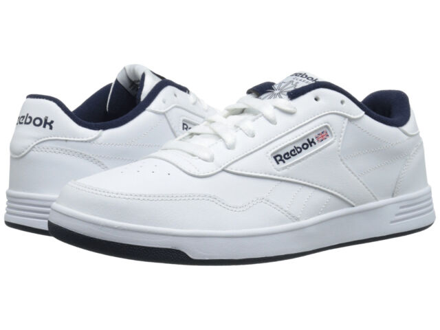 Men Reebok Lifestyle Club Memt V67513 White Navy 100% Authentic Brand New f4cb25e7a