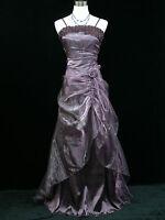 Cherlone Plus Size Purple Long Prom Ballgown Wedding/Evening Dress 22-24