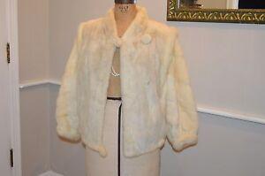 ea6740b3fc9f vintage blonde cream off white mink fur coat jacket unzips VEST