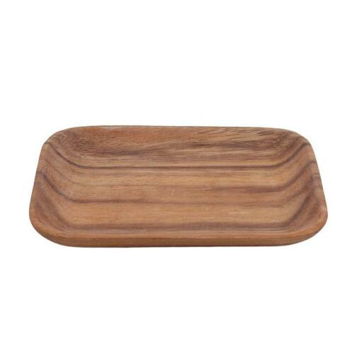 Wooden Tray Dinner Plate Food Dessert Tea Plate Kitchen Home Tableware LB