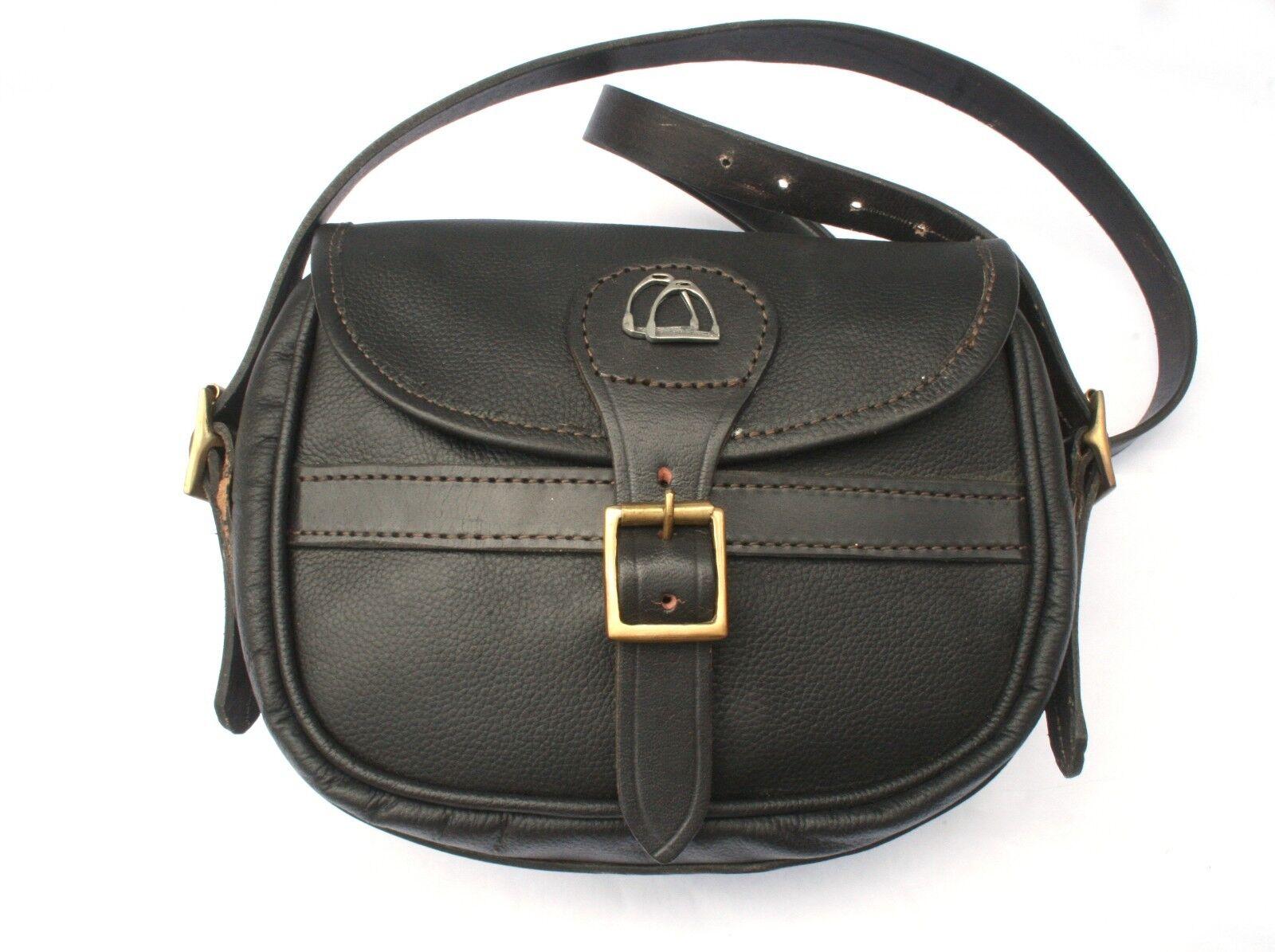 Horse Stirrups Real Leather Cartridge Shooting Bag 75 Capacity Shooting Gift