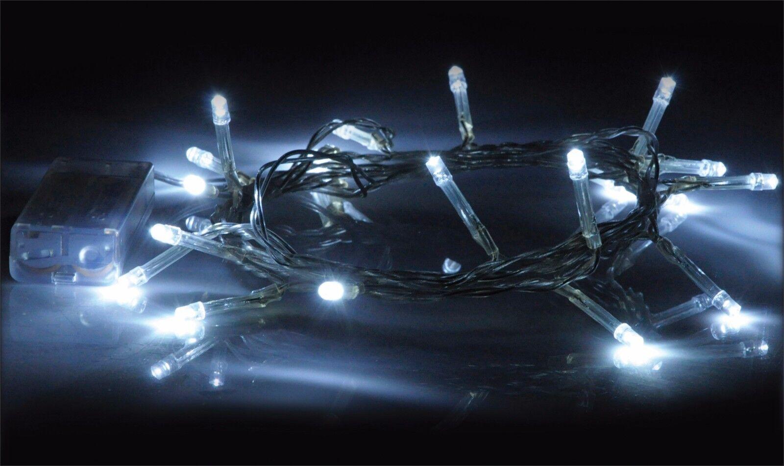 2 x Eagle LED String Light (20) White (Pair) G601CA 20 Bulbs