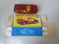 1969 Matchbox Lamborghini Marzal Car #20 Thin Superfast Wheels with Torn Box