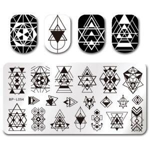 Nail-Art-Stamp-Plate-Image-Template-Geometry-Theme-BP-L054-BORN-PRETTY