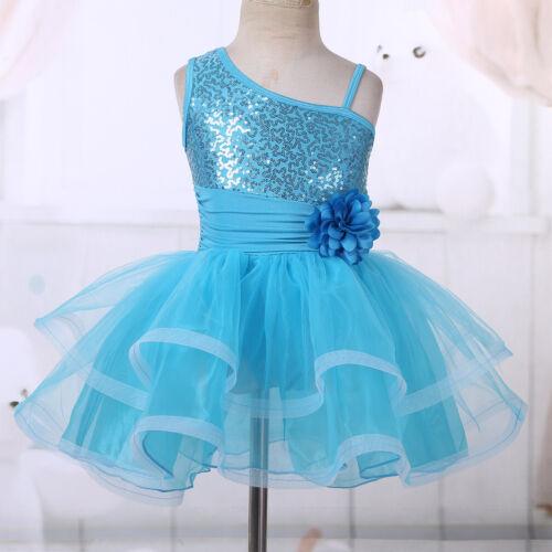 Toddler Girls Tutu Ballet Leotard Dress Ballerina Dancewear Skate Dance Costume