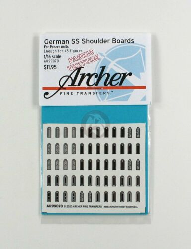 Archer 1//16 German Waffen-SS Shoulder Boards for Panzer Troops AR99070 Fabric