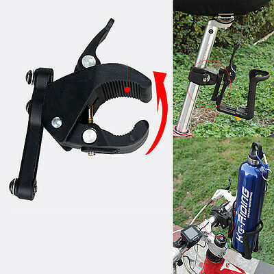 Outdoor Bicycle Bike Cycling Water Cup Bottle Cage Holder Clip on Clamp Mount