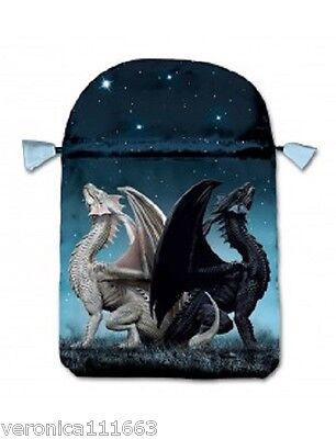 Draconis Tarot Bag NEW Satin Drawstrings for Cards Tools Printed dragons design