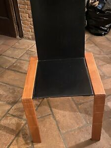 Sedie Design Legno E Pelle.N 4 Sedie Vintage In Legno E Pelle Design Coppola Prod Bernini