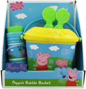 Peppa-Pig-de-Peppa-Burbuja-Cubo-amp-3-Formado-Burbuja-Varitas-Playset-de-Juguete
