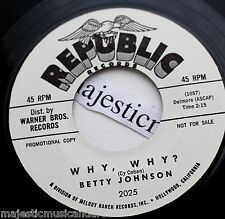 """PROMO ONLY 1961 BETTY JOHNSON HOW DO YOU TELL YOUR HEART 7"""" VINYL 45 NM POPCORN"""