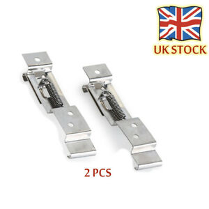 Trailer-Number-Plate-Clips-Holder-Spring-Loaded-Stainless-Steel-One-Pair-F-Truck