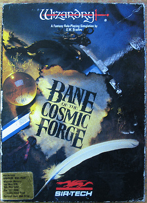 Wizardry Bane of the Cosmic Forge for Mac Plus vintage RPG