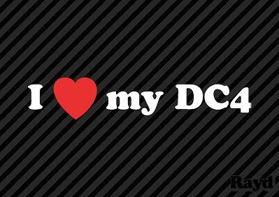 I Love my DC4 Sticker Decal Die Cut Vinyl 2