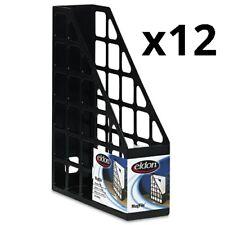 Techfile Plastic Magazine File 3 X 9 58 X 11 58 Black Pack Of 12