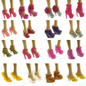 10-Artikel-Party-Daily-Wear-Dress-Outfits-Kleidung-Schuhe-fuer-Barbie-Puppe-T2X2