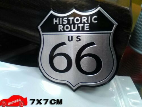 Historic Route US 66 Side Rear Emblem Badge Motor Sport Decals Sticker Chrysler