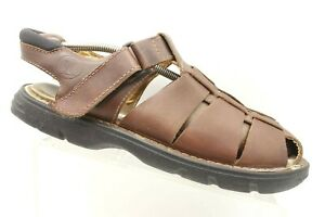1c68c9dd168 Clarks Brown Woven Leather Casual Slip On Fisherman Sandals Men s 11 ...