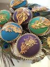 41 PC READY MADE EDIBLE SUGAR FEATHERS CUPCAKE BIRTHDAY ANNIVERSARY ENGAGEMENT