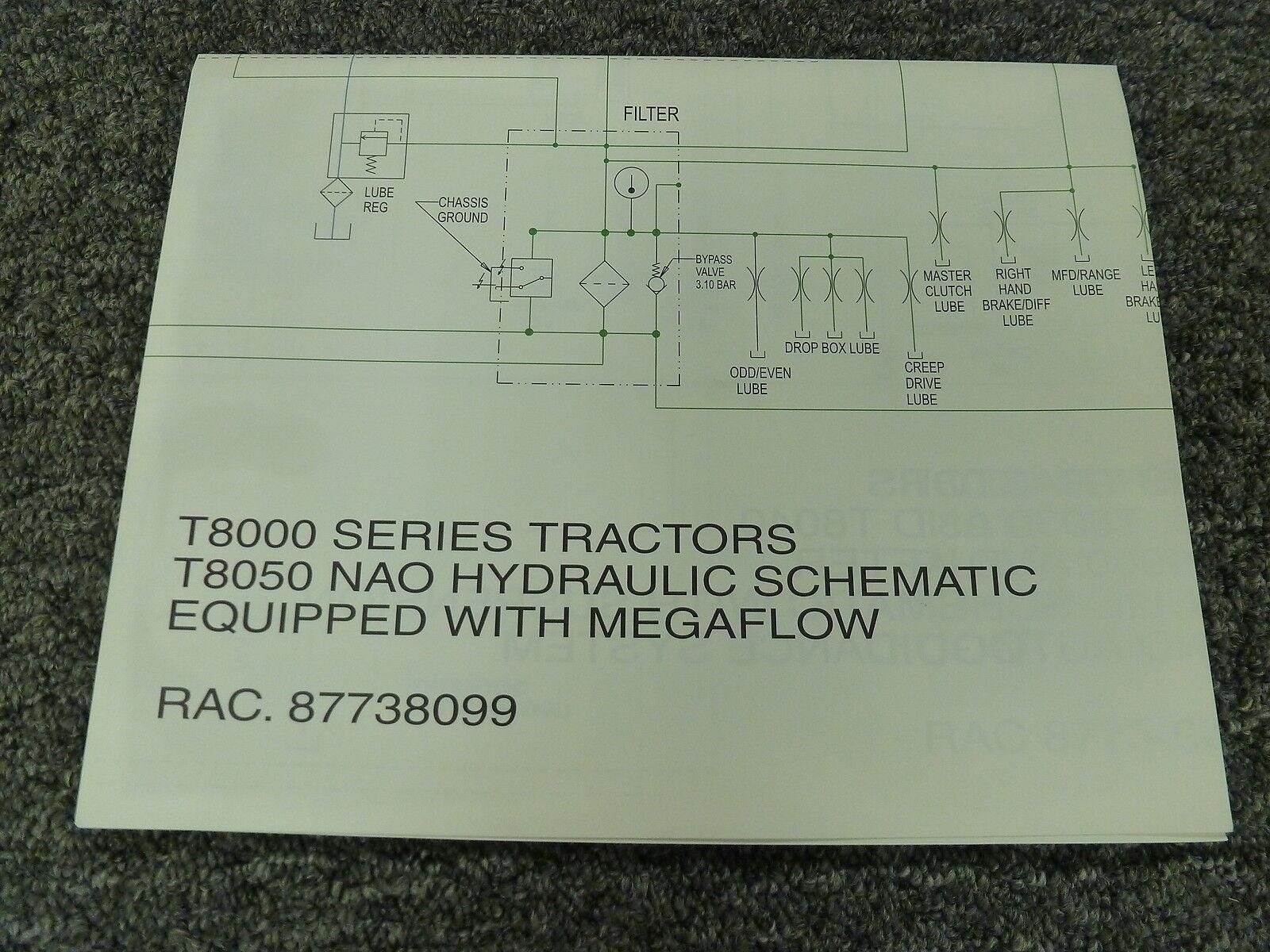 New Holland T8050 fila cultivo Tractor Nao hidráulico hidráulico hidráulico Manual de diagrama esquemático 720be0