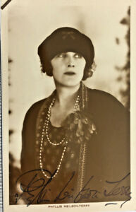 PHYLLIS-NEILSON-TERRY-ACTRESS-AUTOGRAPH-SIGNED-REAL-PHOTO-POSTCARD-RPPC-UNPOSTED