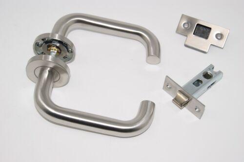 Satin Stainless Steel Latch Set 10 X D Shape Door Handle Pack