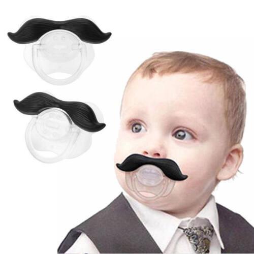 Funny Mustache Baby Boy Girl Infant Pacifier Orthodontic Dummy Beard Nipple