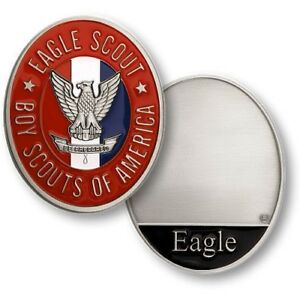 Boy-Scout-Official-Eagle-Scout-Challenge-Coin-BSA-Highest-Award-Engravable-New