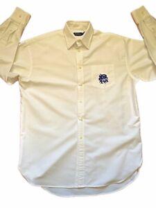Ralph Lauren Polo Mens Solid Shirt Sz M Button Front Mesh Shirt NWT Beige Medium