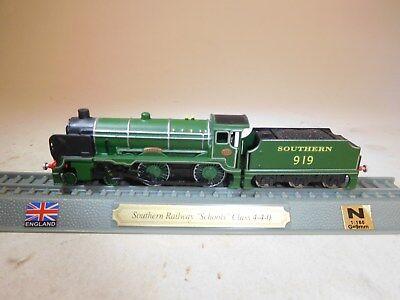+ Traccia N 1:160 Del Prado Stand Modello Locomotiva Southern 919 Schools 4-4-0 Uk Gb-mostra Il Titolo Originale