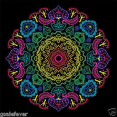 "JUMBO Mandala Poster Wall Art / Great for Yoga Room / 36""x36"" / 3'x3'"