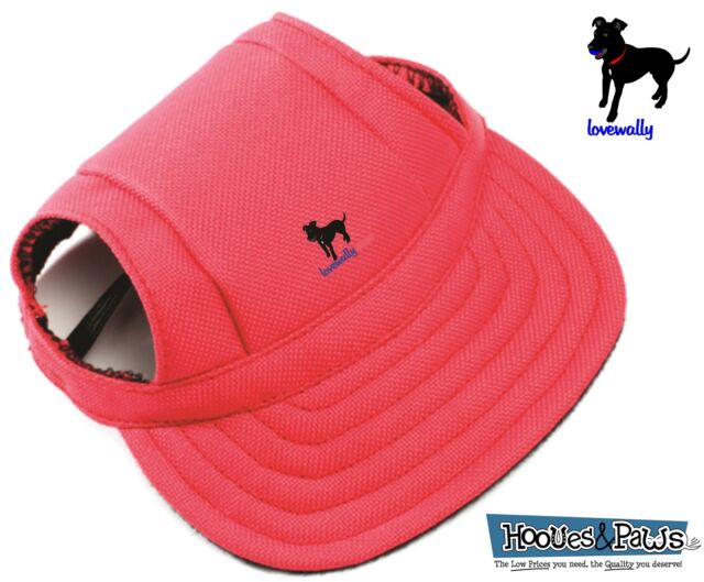 Dog Outdoor Pet Hat Red Adjustable LoveWally Authentic USA Seller Sizes S M L