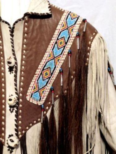 Herren Fransen Style Multi Color Western Wear Wildlederjacke im amerikanischen