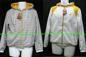 Neu-Nike-Sportkleidung-NSW-Herren-Windlaeufer-Wendejacke-Grau-Weiss-XL-TG
