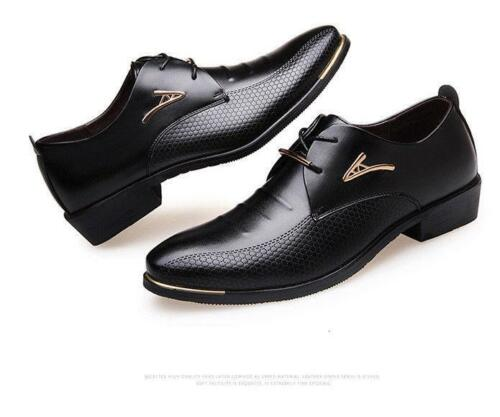Formal Mens Male Dress Shoes Casual Genuine Leather Shoes Low Heel Business