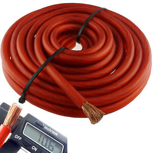 10\' ft 4 Gauge Red Car Audio Power Ground Wire Cable AWG 10 Feet ...