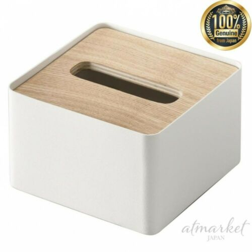 Yamazaki Tissue case 7732 With lid Rin S Natural Interior genuine from JAPAN NEW
