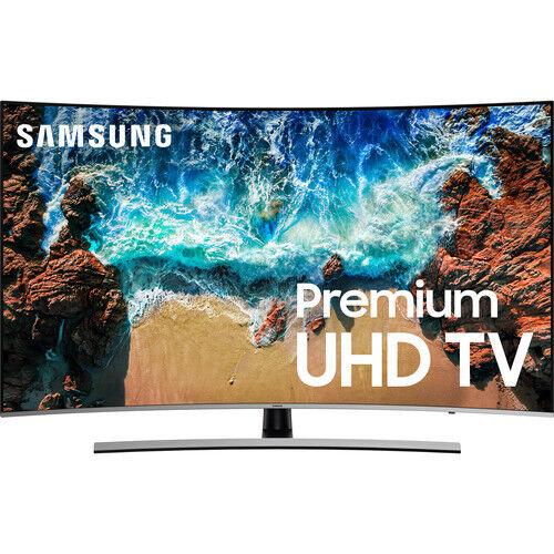 "Samsung UN55NU8500 55/"" Silver Curved UHD 4K HDR LED Smart HDTV UN55NU8500FXZA"