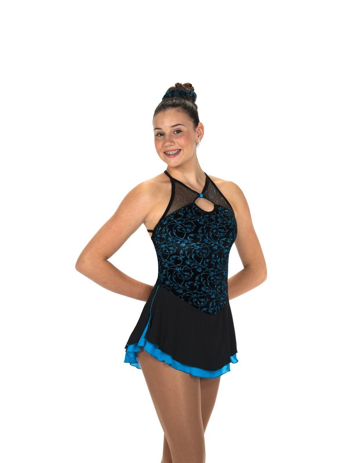 El nuevo vestido de Patinaje artístico Jerry 's 224 Nightfall azul talla L.