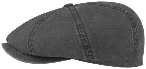 STETSON Sun Guard Flatcap Bakerboy Cap Hat Organic Cotton Hatteras 1 New