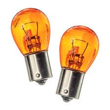 2x BAU15s PY21W 581 naturale AMBRA VETRO LAMPADINE ANTERIORE E POSTERIORE SPIE