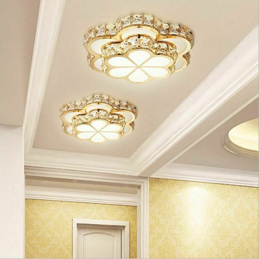 Crystal Chandelier Floral Style Light Fixtures Home Ceiling Led Bulb Lamp Modern