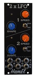 Dual LFO Analog Synth Module - Eurorack Low Freq Osc // Hampshire Electronics