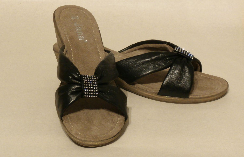 Jana Tuta Ladies Mules court shoes sandal ladies shoe shoes Leisure Black White