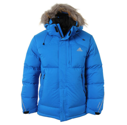 Adidas DG90 Premium Down Jacket AB4588 Winter Parka Blue