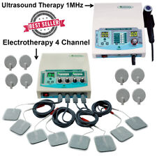 New Combo 1mhz Ultrasound Therapy Unit Electrotherapy 4 Channel Massager Machine
