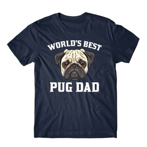 World/'s Best Pug Dad Dog Owner Graphic T-Shirt